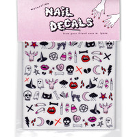 CREEPY CUTE teeny tiny nail decals - NEW!!!