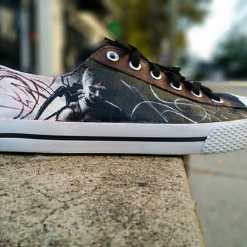 Daryl Dixon The Walking Dead Hand Painted Cnavas Lace Up Shoes