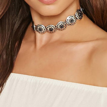 Etched Medallion Choker
