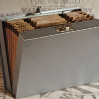 Vintage Office File Book, with Accordian Files
