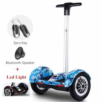 Blue Camo Segway Electric Scooter Hoverboard with Handle