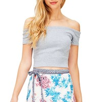 Hailey Off Shoulder Crop Top