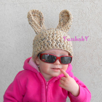 Easter Bunny Hat Baby Photo Props Brown Rabbit Beanie