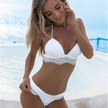 New Solid Two-pieces Bikini Set