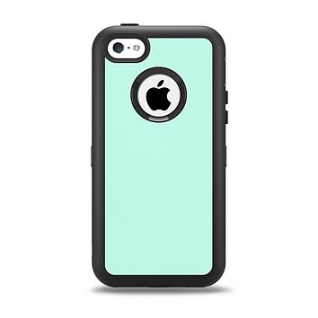 The Subtle Solid Green Apple iPhone 5c Otterbox Defender Case Skin Set