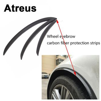 Atreus1pc Car Fender Protect Wheel Tire Edge Eyebrow Carbon Stickers For BMW e46 e39 e36 Audi a4 b6 a3 a6 c5 Renault duster Lada