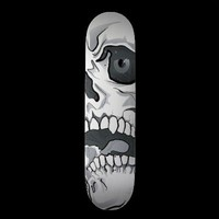 White Skull Skateboard from Zazzle.com