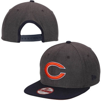 Chicago Bears New Era Original Fit Two-Tone Action 9FIFTY Snapback Hat – Heather Gray/Navy Blue