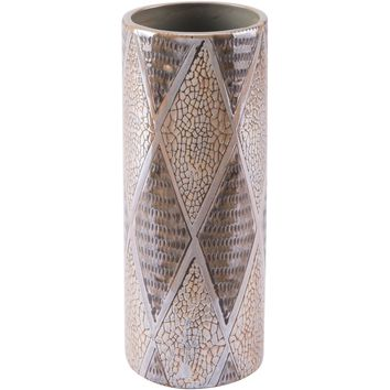 Brown Pearl Cylinder Vase, Short