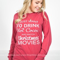 Hot Cocoa & Christmas Movies T-Shirt
