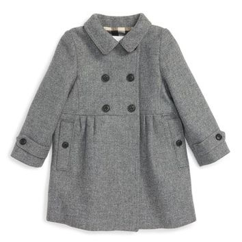 Burberry 'Coraline' Double Breasted Wool Blend Coat (Baby Girls) | Nordstrom