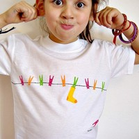 Childrens tshirt Handpainted Kids Tee Shirt by BHBKidstyle on Etsy