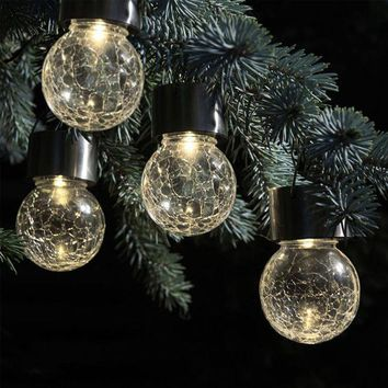 ICIKRE9 2017 New 4pcs christmas led lights christmas decorations Solar Rotatable Outdoor Garden Camping Hanging LED Round Ball Lights