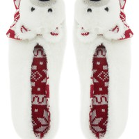 New Look Christmas Polar Bear Slippers