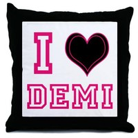 I heart Demi Custom Pillow on CafePress.com