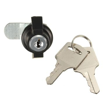 Zinc Alloy Cam Lock File Cabinet Desk Drawer Locker with 2 Keys for Arcade Cupboard Mail Box