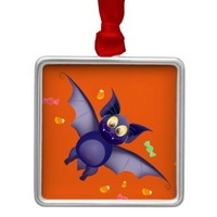 Cute baby bat Halloween candy corn