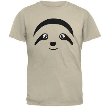 LMFCY8 Cute Sloth Face Mens T Shirt