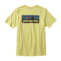 Patagonia Men's P-6 Logo Cotton T-Shirt | Lite Blazing Yellow