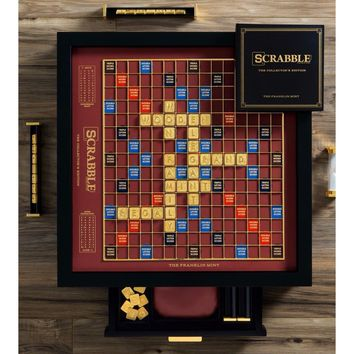 Winning Solutions Scrabble The Franklin Mint Collector's Edition Board Game NEW