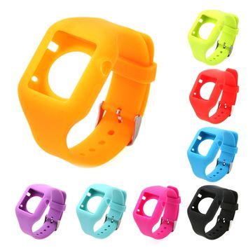 Silicone Fitness Replacement Band Wrist Strap For Apple Watch 38mm Soft Lightweight Watch Band 8 Candy Colors