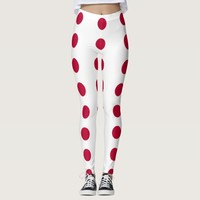 Leggings with flag of Japan
