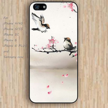 iPhone 5s 6 case colorful  bird retro painting phone case iphone case,ipod case,samsung galaxy case available plastic rubber case waterproof B376