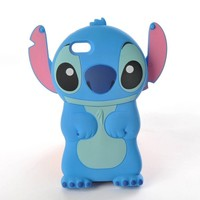 Lilo & Stitch Disney iPhone 5 3D Hard Plastic Movable Ear Flip Cell Phone Case Cover Skin - Blue