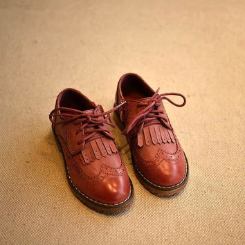 Boys Wingtip Shoes with Tassles in Three Beautiful Colors