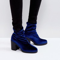 Truffle Collection Chunky Heel Sock Boot at asos.com