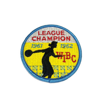 60s Womens Bowling Patch Vintage WIBC 1961 1962 League Champion Retro Jacket Vest Shirt Jeans Clothing Patche