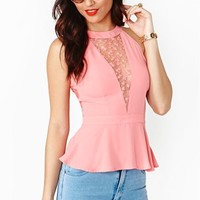 Spring Again Peplum Top