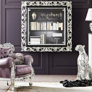 Wall-mounted wooden bookcase 13130 Bella Vita Collection by Modenese Gastone group