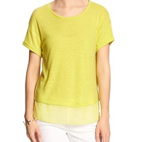 Banana Republic Womens Factory Linen Blend Tee