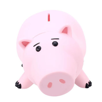 Animal Piggy Bank Saving Coin Money Box  1Pcs Toy Story Hamm Piggy Bank Pink Pig Coin Money Box Kids Great Gift