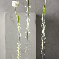 Bulle Glass Tapered Vase by Anthropologie Clear