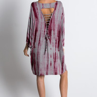 Tie Dye Loose Fit Tunic Dress