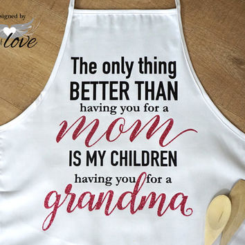 Mother's Apron | Mother's Day Gift | Kitchen Apron | Cooking Apron | Baking Apron | Adult Apron | Personalized Apron | Chef's Apron