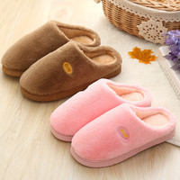 Cotton Winter High Heel Couple Thicken Slippers [9067743300]