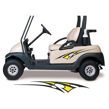 Two Color Golf Cart Decals Accessories Go Kart Stickers Side by Side Graphics GCA1204