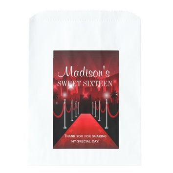 Hollywood Red Carpet Sweet 16 Favor Candy Bag
