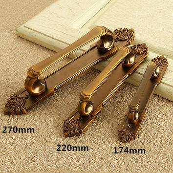 Brass European Vintage Metal Door Handles Drawer Pull Home Accessories For Cabinet Wardrobe Cupboard Bronze Knobs