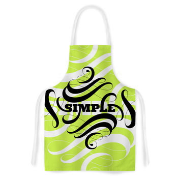 "Roberlan ""Simple"" Lime Green Artistic Apron"