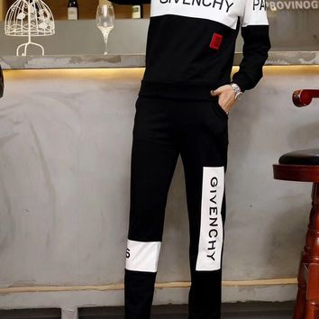 """Givenchy""Woman Casual Fashion Letter Pattern  Long Sleeve trousers Two-Piece Sportswear"