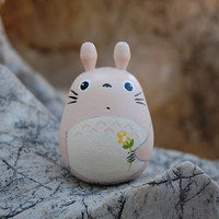TOTORO Doll key chain rings Studio Ghibli toy G6 cream by cuteart