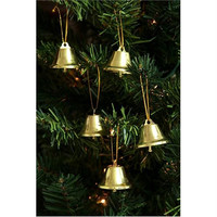 6 Christmas Ornaments - Gold Bell