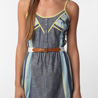 Staring at Stars Pop Bound Chambray Dress