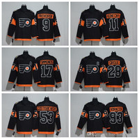 Philadelphia Flyers 53 Shayne Gostisbehere Black 2017 Stadium Series Jersey 93 Voracek 88 Lindros 28 Giroux 17 Simmonds Jerseys Available