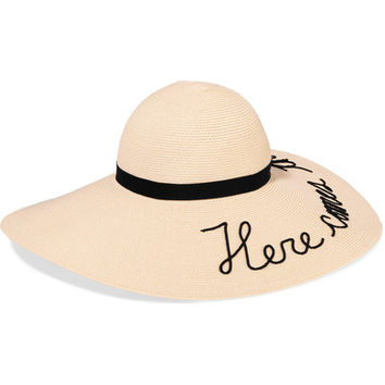 Eugenia Kim - Bunny embroidered toyo sunhat