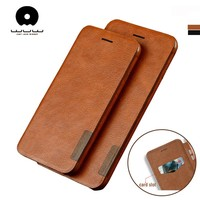 WUW Flip case for iPhone 6 6s plus case leather Wallet for iphone 7 8 plus case cover phone coque